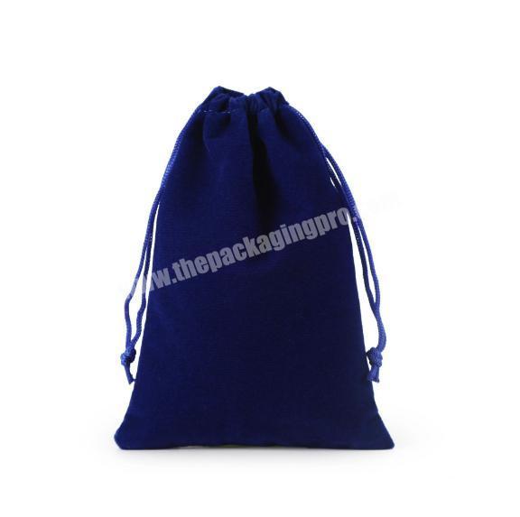Best-Selling Cheap Promotional Logo Printed Custom Velvet Bags Drawstring