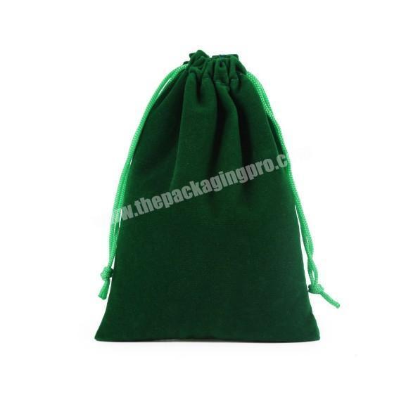 Factory Best-Selling Cheap Promotional Logo Printed Custom Velvet Bags Drawstring