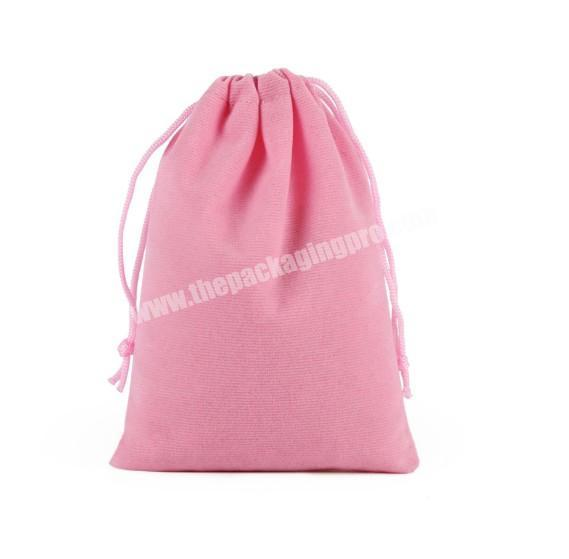 Pink iphone or gift packaging drawstring velvet bag for jewelry wholesale