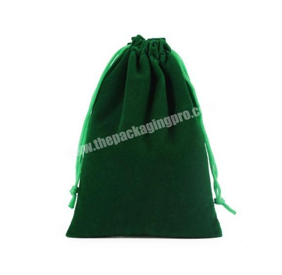 Small MOQ custom suede velvet gift drawstring pouch bags for promotional