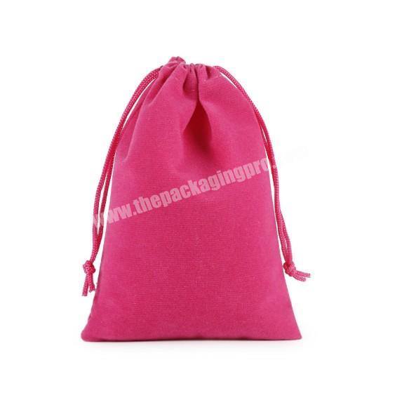 Shop Multi-color velvet material drawstring jewelry dust bags with customized logo