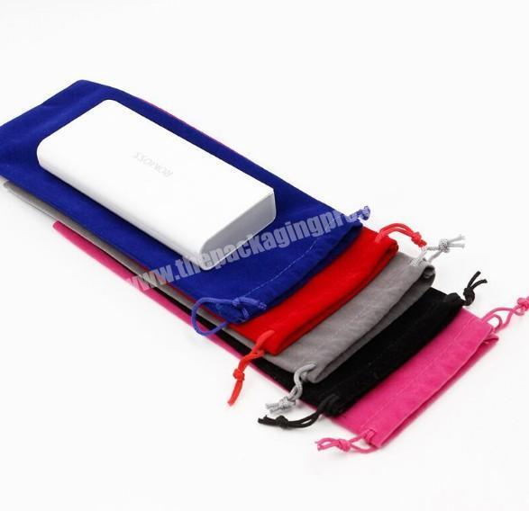 Multi-color storage pouch custom velvet material drawstring dust bag for hair
