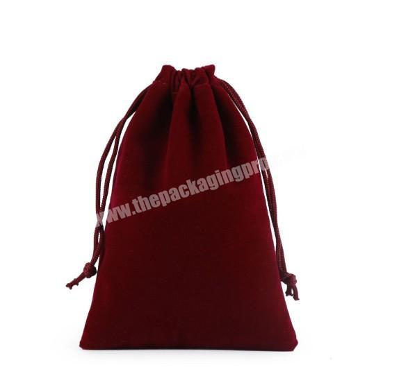 Supplier Small MOQ custom suede velvet gift drawstring pouch bags for promotional
