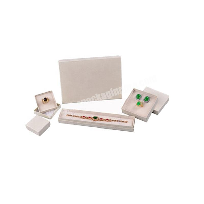 Custom paper cardboard home jewellery boxes white lid and base jewelry packaging box  dubai with logo