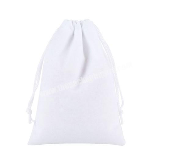 many sizes for choose special High quality small storage and packaging drawstring jewelry gift white velvet pouch bag