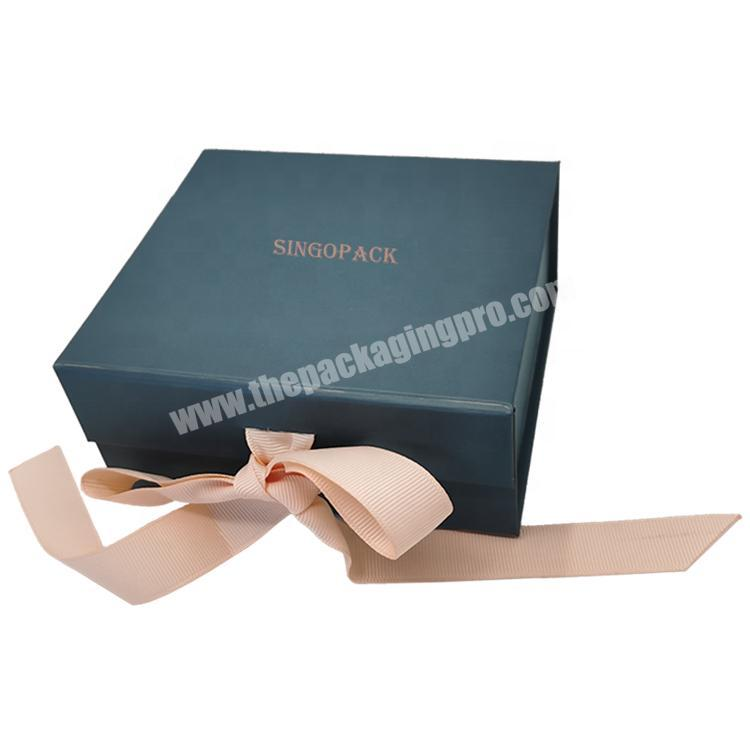2020 Latest Product Best Selling Reasonable Price Gift Boxes With Magnetic Lid Flap Box With Ribbon