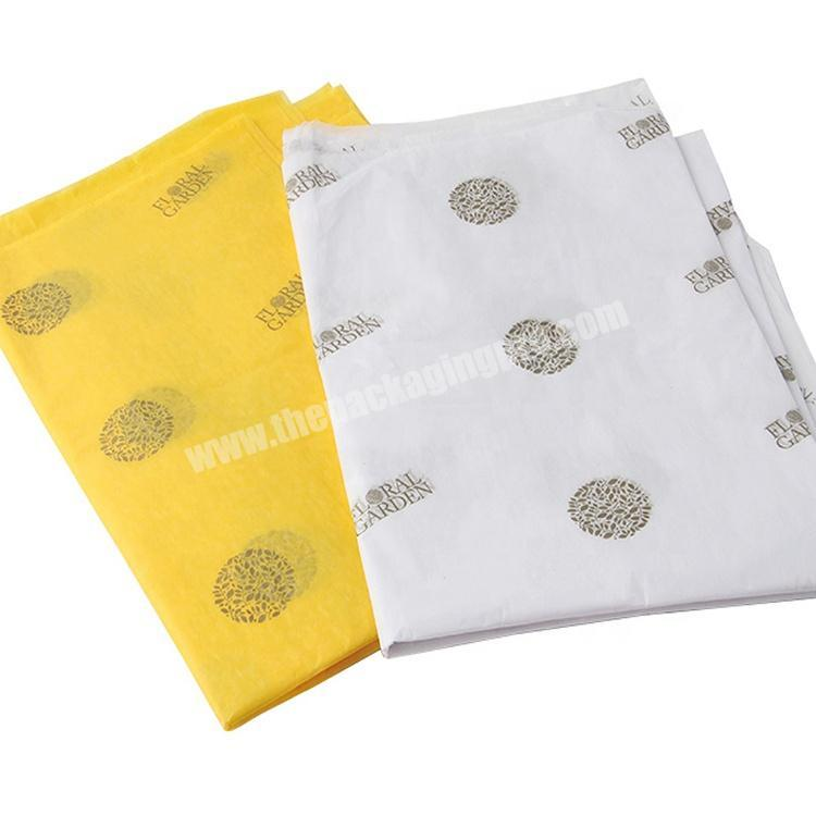 Cheap custom printed logo wrapping garment tissue paper gift tissue paper