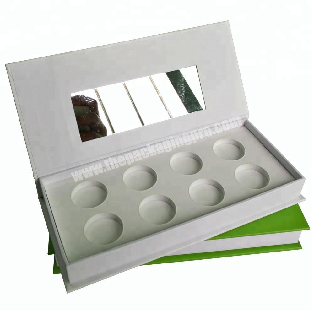 Custom empty paper cardboard palette box eyeshadow packaging