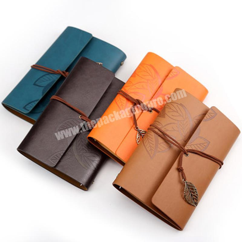 Leather Notebook Printed Diary PU Leather Notebook A5 Accept Customized Logo 50 Sheets,80 Sheets 80GSM Paper Glued & Lock Wire
