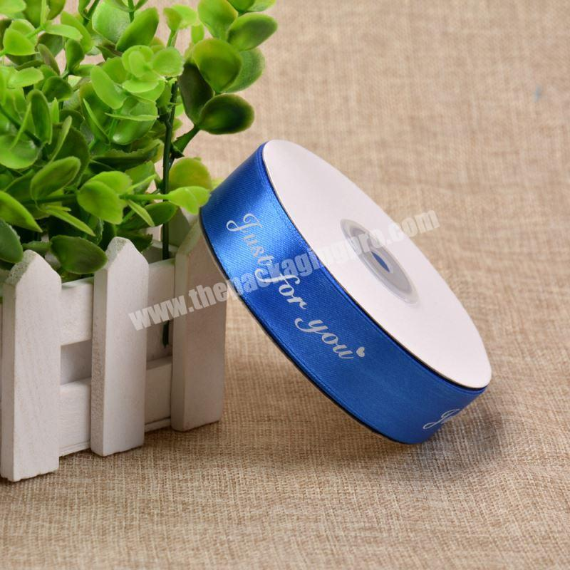 75mm Customized Printed Satin Ribbon Bow