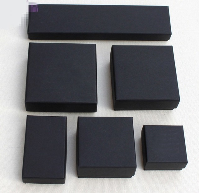 High Archives Black Kraft Jewelry Packing Bracelet & Necklace & Ring & Ear Nail Jewelry Box Gift Customize 6 size