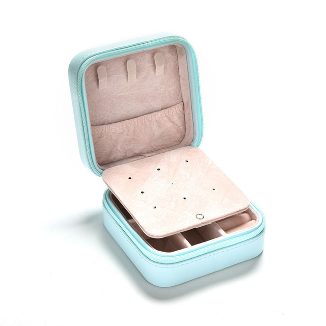 Wholesale New Creative Jewelries Box Mini PU Leather Casket for Jewelry Travel Case Best Birthday Gift Ring Earrings Necklace Storage