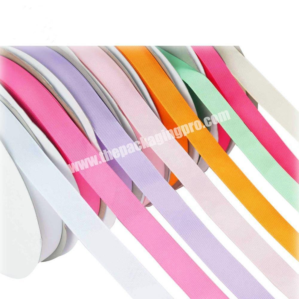 Supplier A variety of color cheap high quality  18 inch to  4 inch Chinese wholesale  handmade brown grosgrain ribbon for all occasion