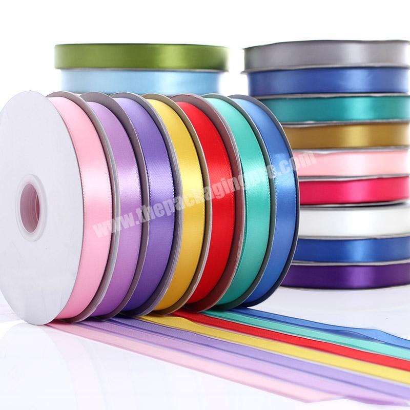 A variety of color cheap high quality  double and single  face 100% polyester  colorful satin ribbon for all kind of occasion