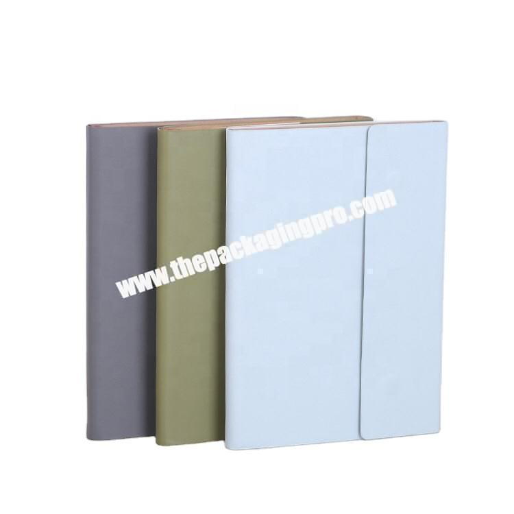 A4 A5 Blue Green Grey Magnetic Clasp PU Leather Dairy Agenda Organizer Planner Business Academic Journal Hardcover Notebook