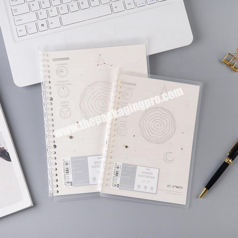 A5 B5 Plastic PP Soft Cover Journal Business Office Diary Coil Spiral Sketchbook Loose Leaf Refillable Binder Notebook