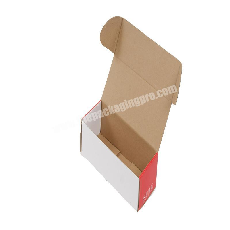 Attachable white square box paper with lid folding gift custom printed