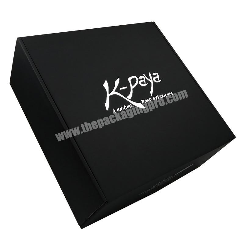 Attractive Appearance Black Packaging Boxes Matte Paper Box Pack Flat Shipping