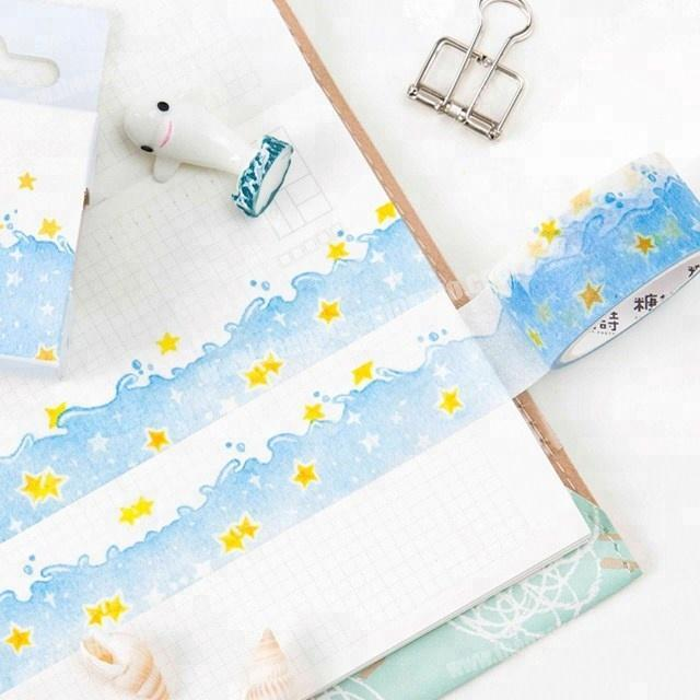 Wholesale Attractive Sea of star custom printed japanese washi tape wholesale