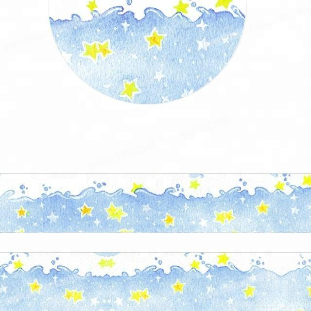 Factory Attractive Sea of star custom printed japanese washi tape wholesale