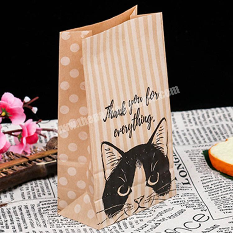 Bakery packaging toast paper bag kraft toast paper bag greaseproof pastry bag