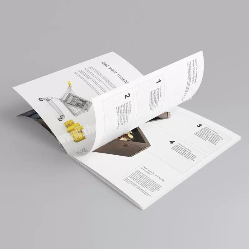 Manufacturer Batch order Custom Full Color BrochureLeafletCatalogueBooklet Magazine printing