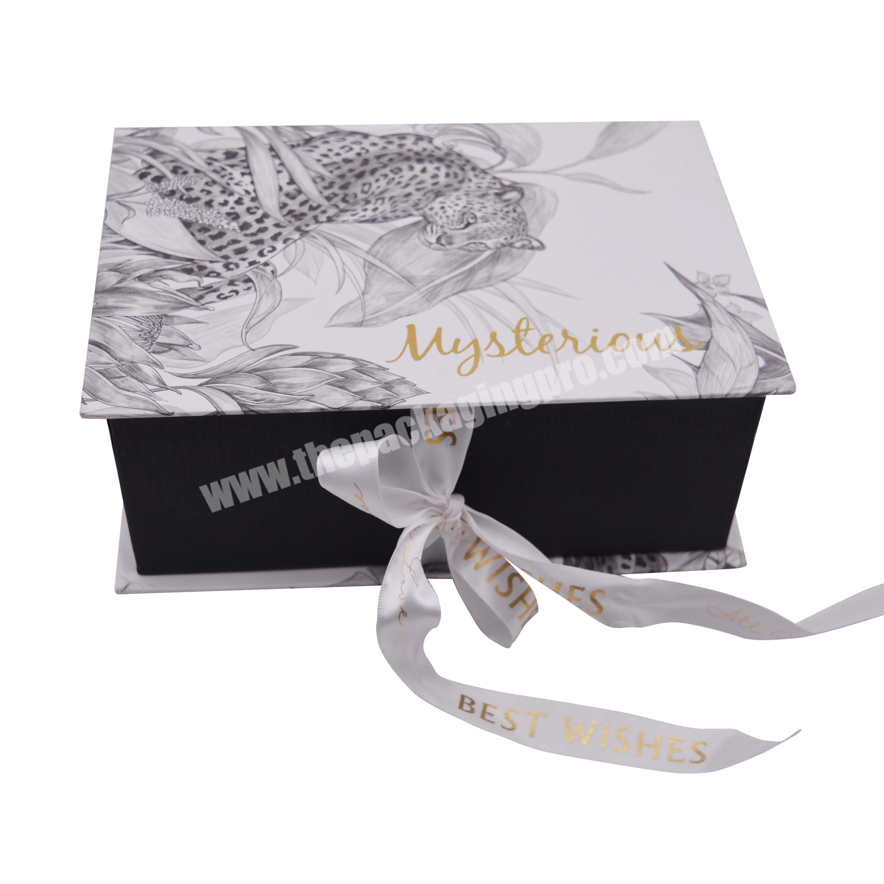 Beautifully Designed Corrugated Custom Logo, Marbled Gift Box With Ribbon, For Toys, Small Gifts, Perfume Packaging