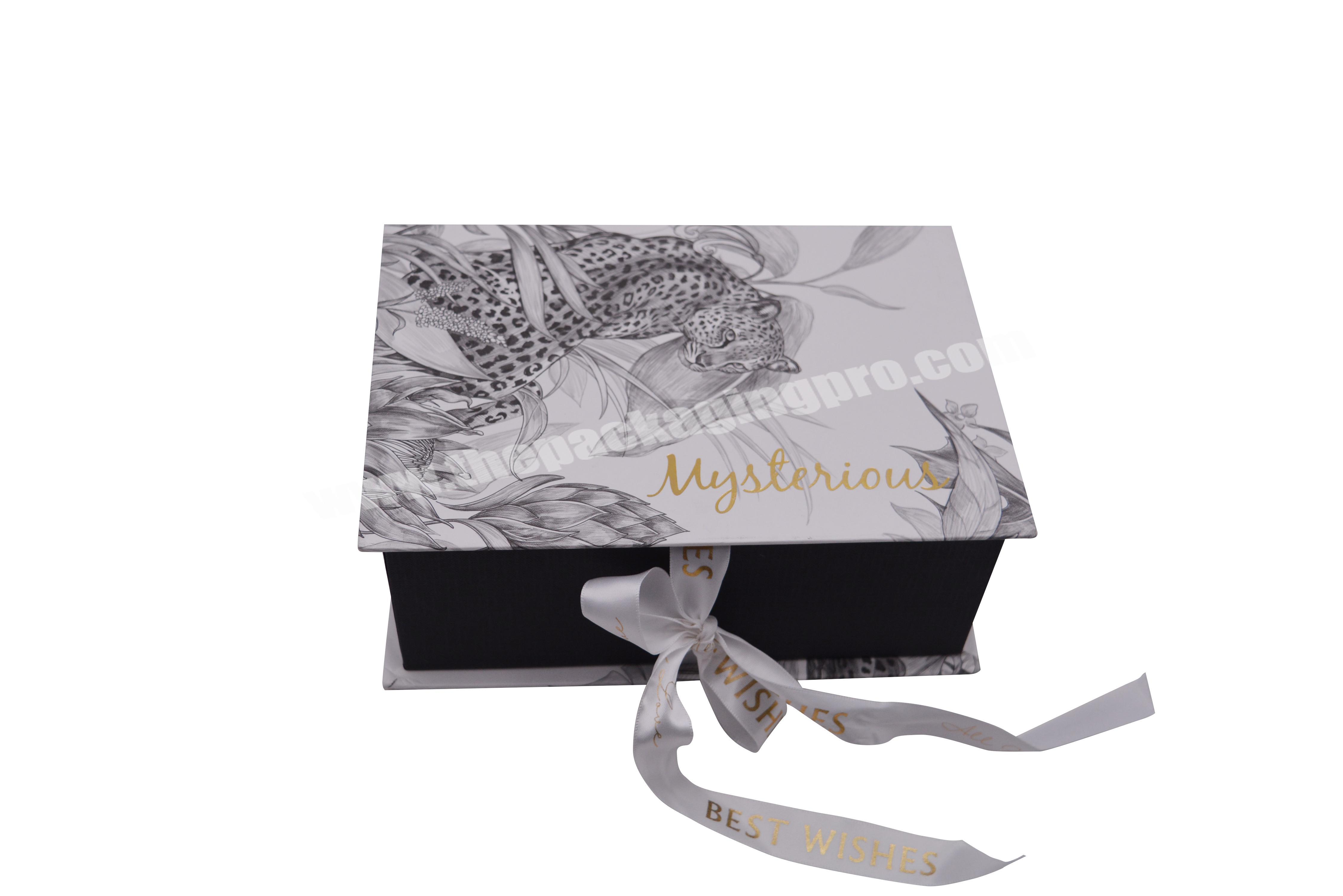 Wholesale Beautifully Designed Corrugated Custom Logo, Marbled Gift Box With Ribbon, For Toys, Small Gifts, Perfume Packaging