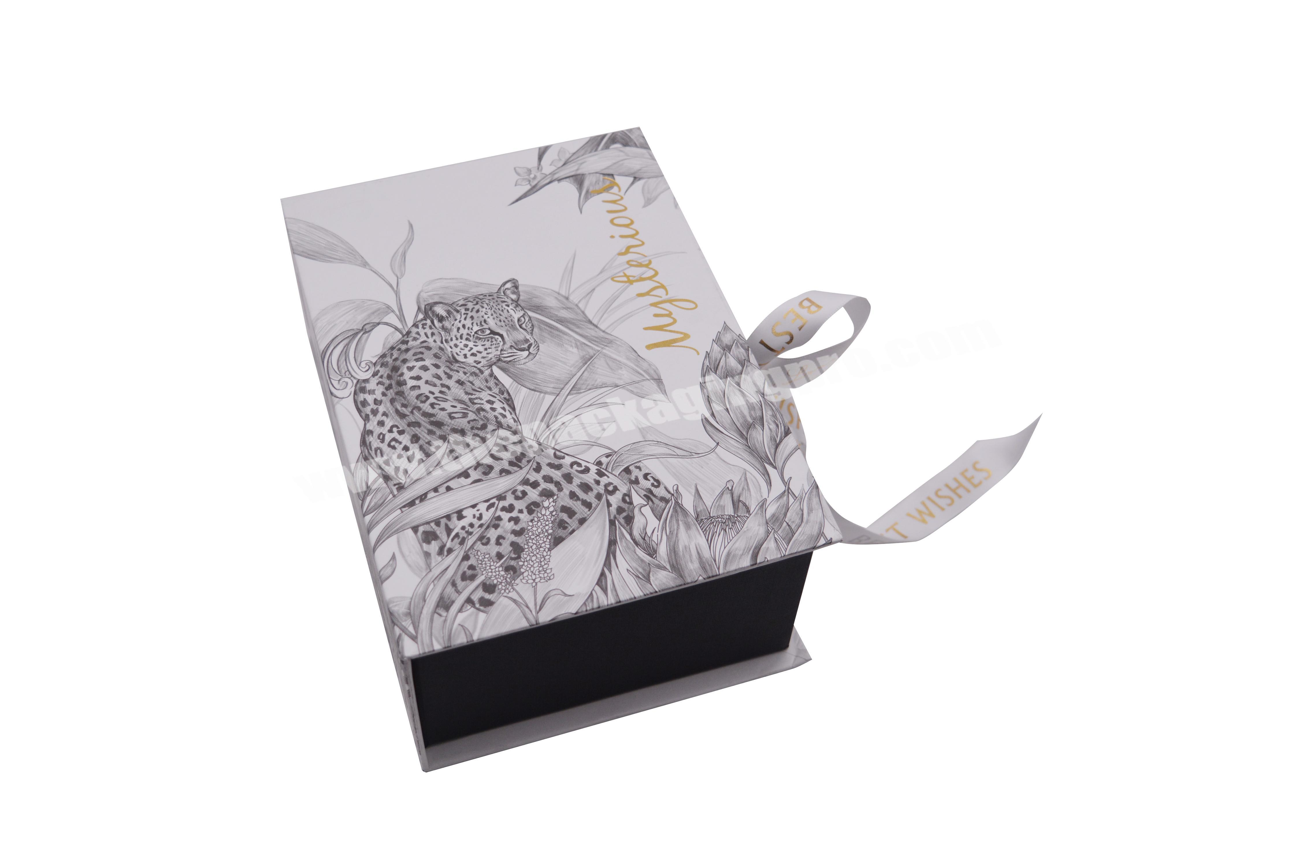 Shop Beautifully Designed Corrugated Custom Logo, Marbled Gift Box With Ribbon, For Toys, Small Gifts, Perfume Packaging