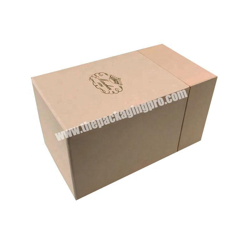 bespoke cardboard packaging box paper chipboard gift box with gold foil edge