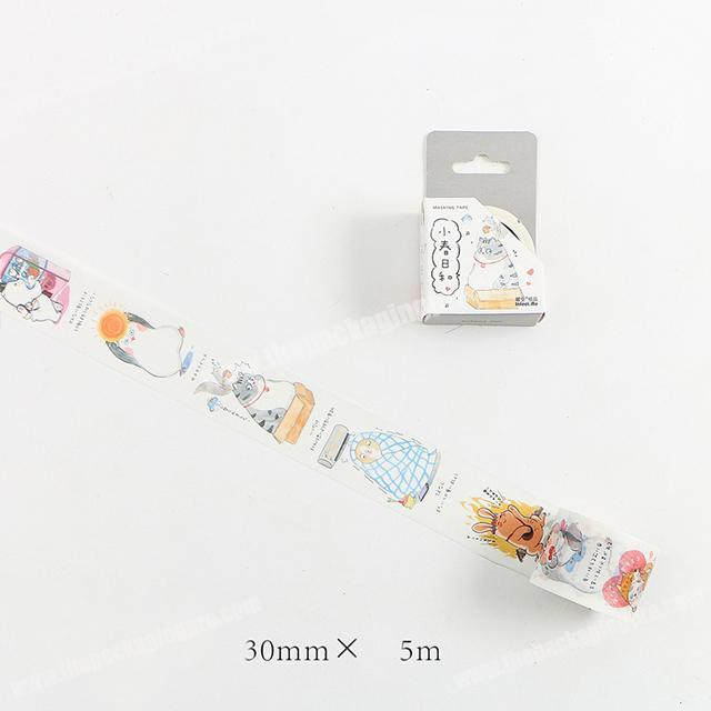 Wholesale best price nice style DIY Adhesive washi tape for children