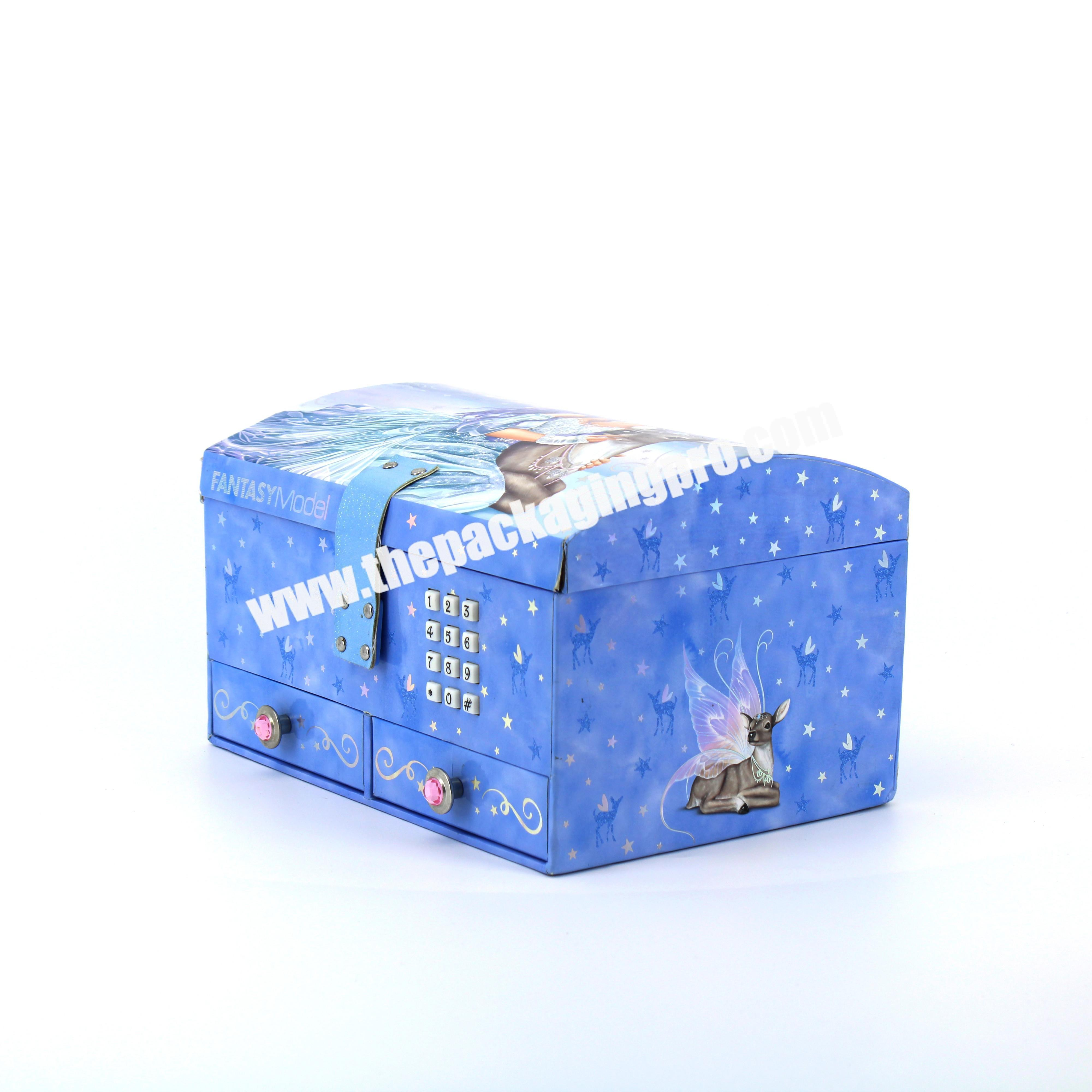 Best Quality Paper Carton Button Baby Gift Box With Music Custom Boxes with Drawer For Packaging