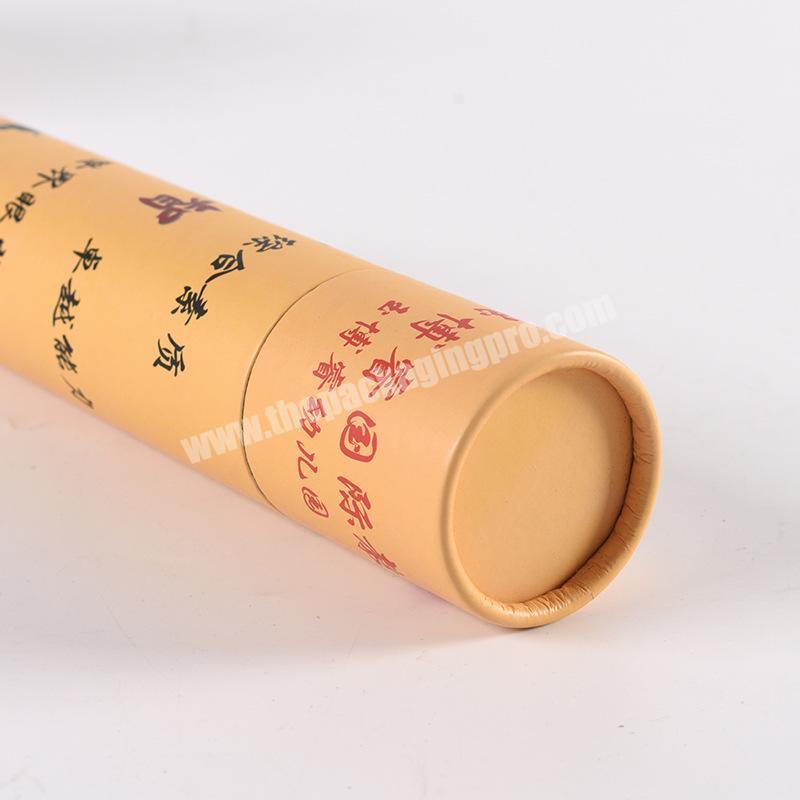 Manufacturer Biodegradable food grade cylinder box tea paper tube packaging