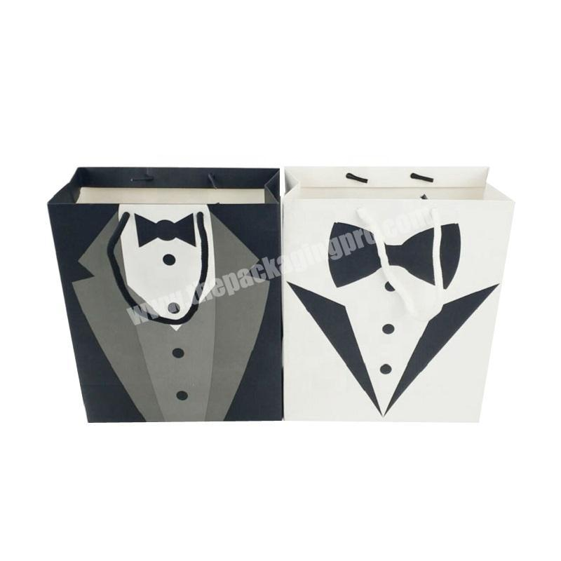Black beauty cardboard paper bag for shopping jewelry packaging