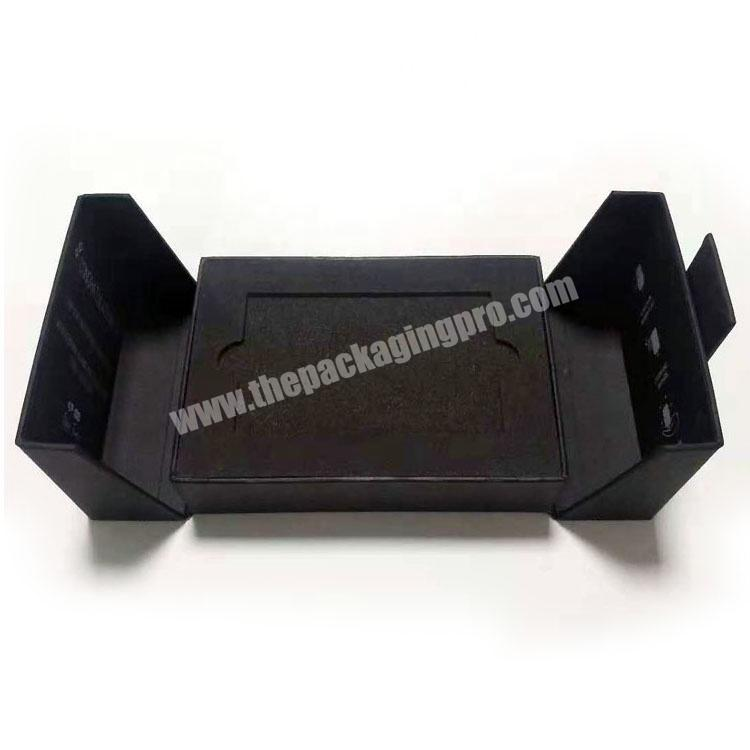 Black Cardboard Paper Packaging Credit Card Gift Box With Magnet Closure