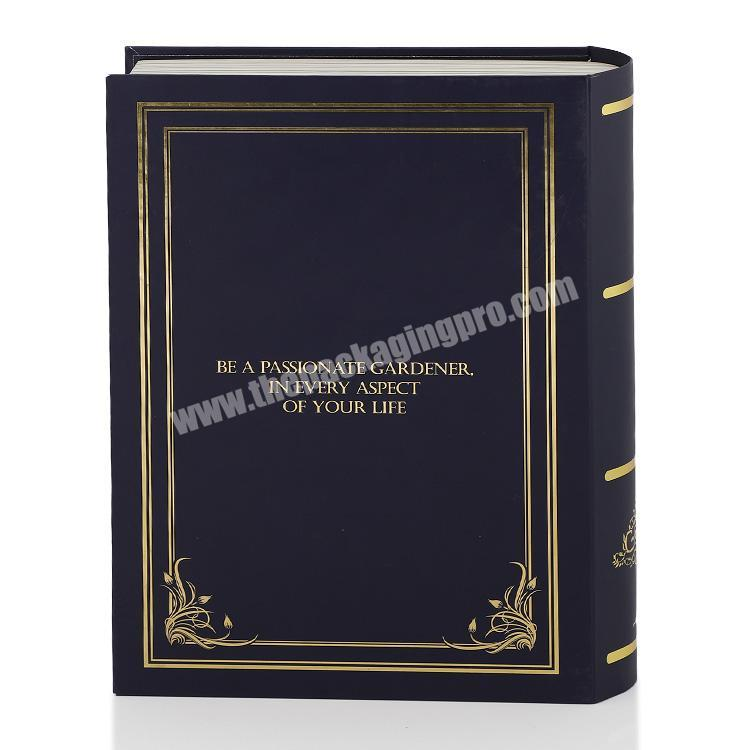 Wholesale Black Gold Foil Book Shape Style Gift Packaging Box Luxury
