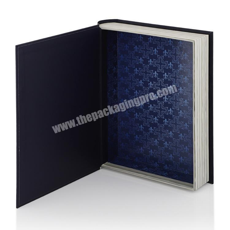 Manufacturer Black Gold Foil Book Shape Style Gift Packaging Box Luxury