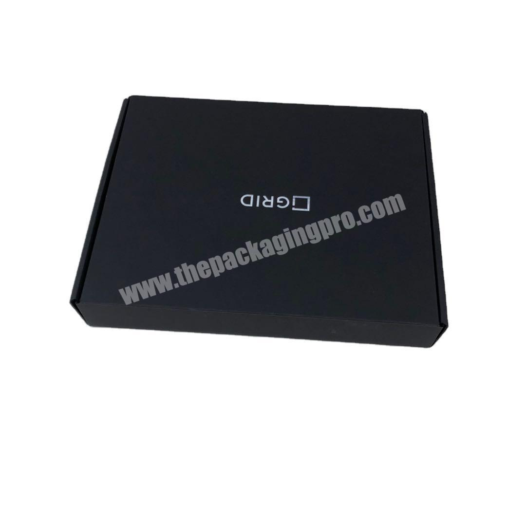 Black High Quality Custom Corrugate Mailer Box