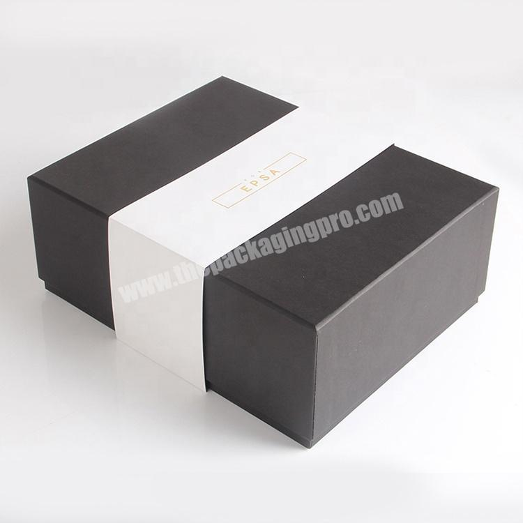 black printing matt cardboard soap box with dividers