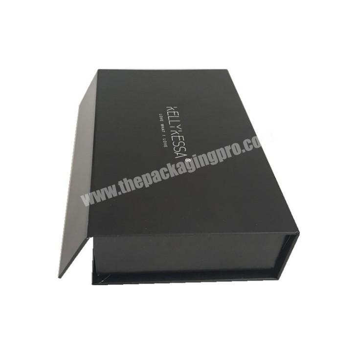Black UV Coating Recycled Gift Nail Polish Packaging Boxes Cardboard Lining Magnetic Closure Custom Packing Paper Box With Logo