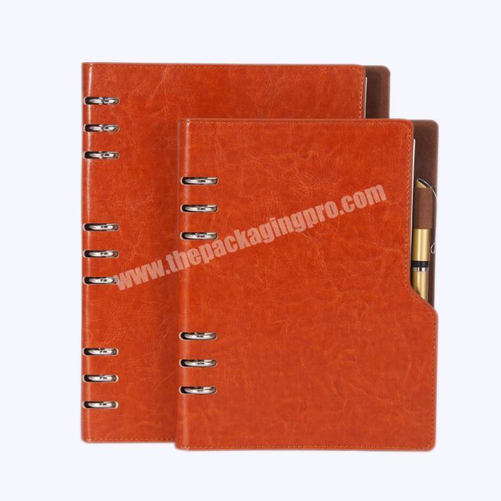 Blank Classic Pu Leather A5 Bound Diary Notebook Notepad Custom