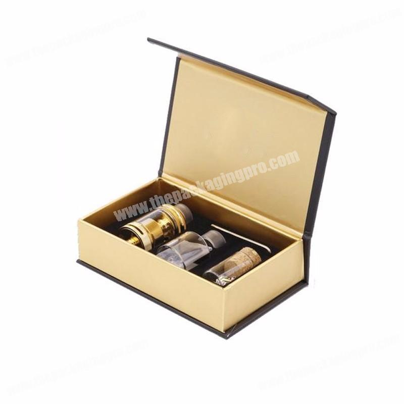 Book shaped high end health care products three tube bottle gift packaging box