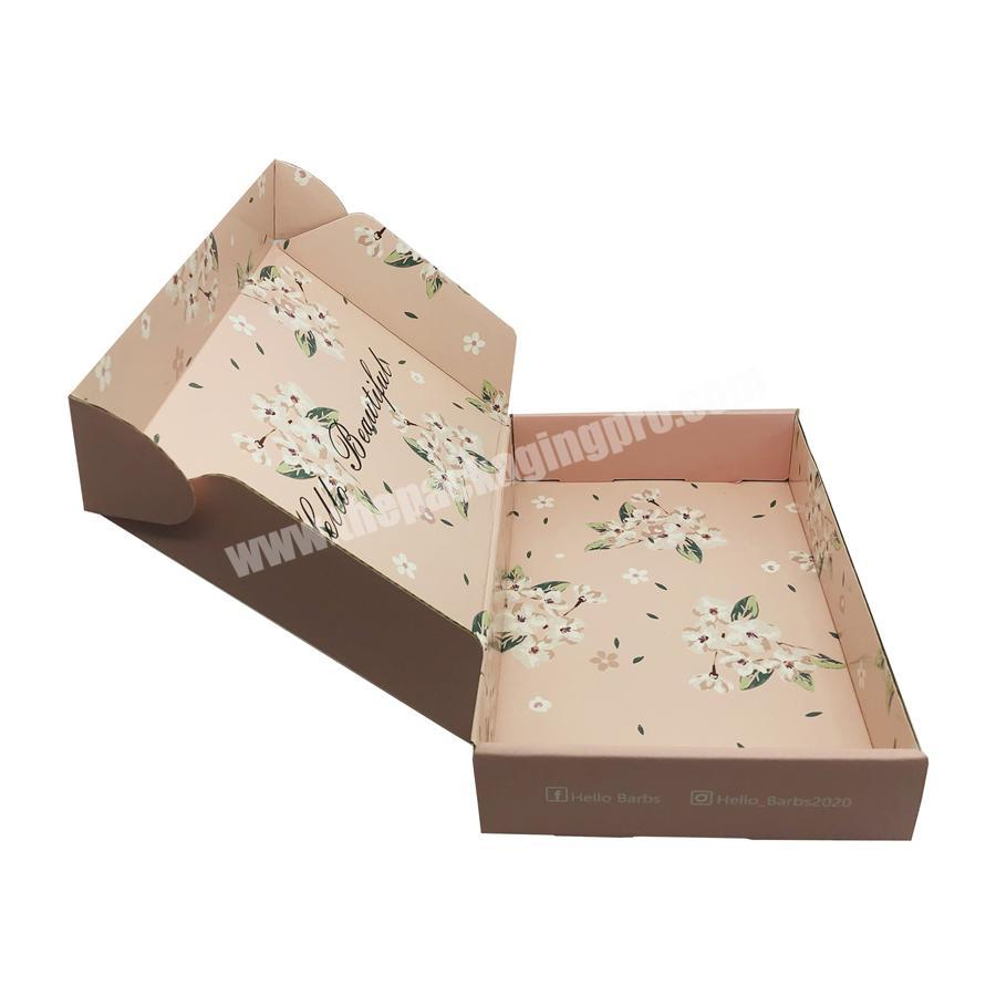 Box design kraft corrugated flower box