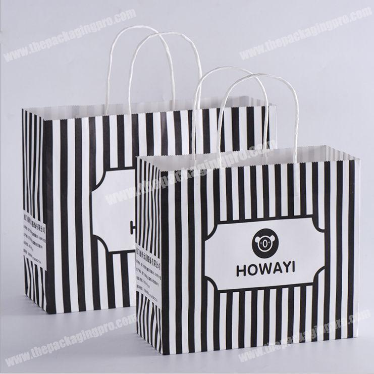 bread package customized printed logo kraft paper bag in high quality