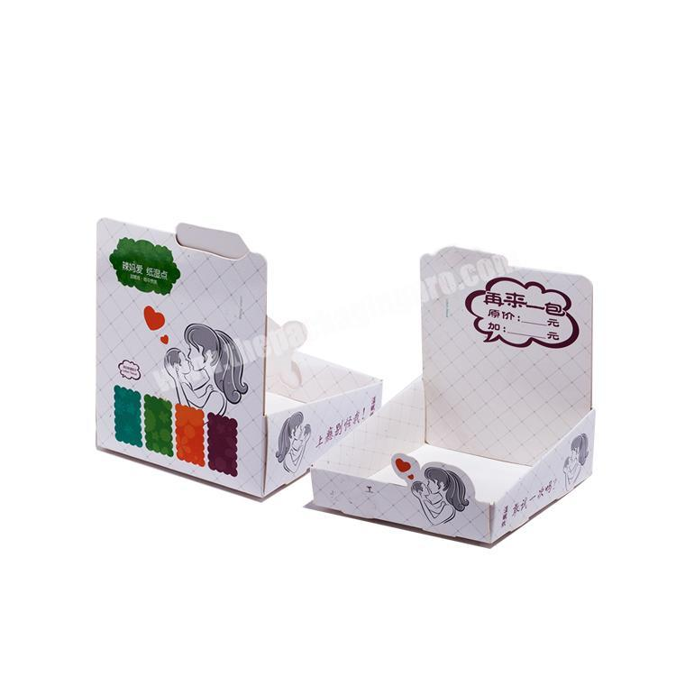 cardboard counter display rack shipping boxes custom logo collapsable corrugated box