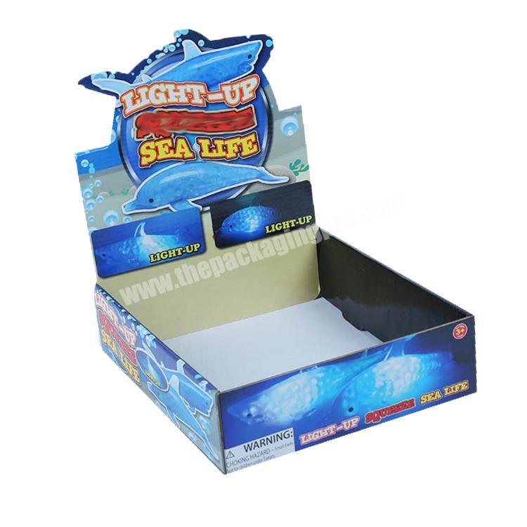 Custom cardboard display rack snack paperboard packaging box paper tray box