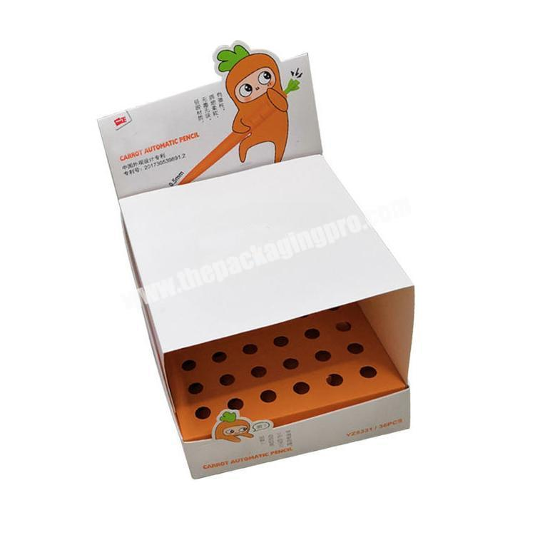 cardboard display table counter display rack paperboard shipping corrugated box