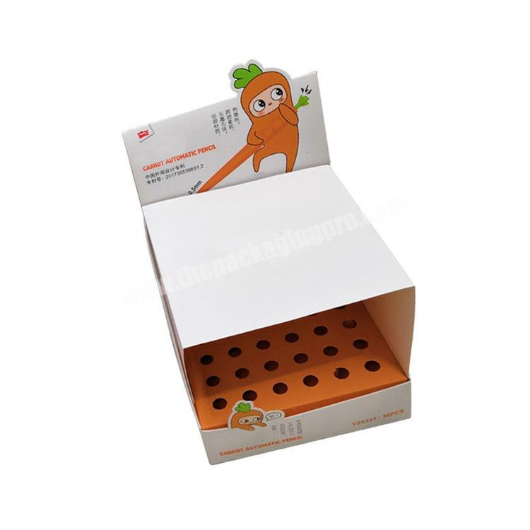 cardboard retail displays collapsable corrugated box counter display rack paperboard