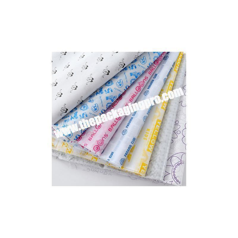 Cheap custom design printed wrapping paper tissue