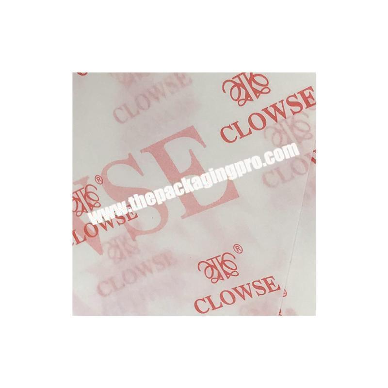 Cheap custom logo printed color tissue paper